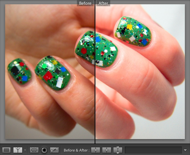 About editing and color correcting nail polish photos