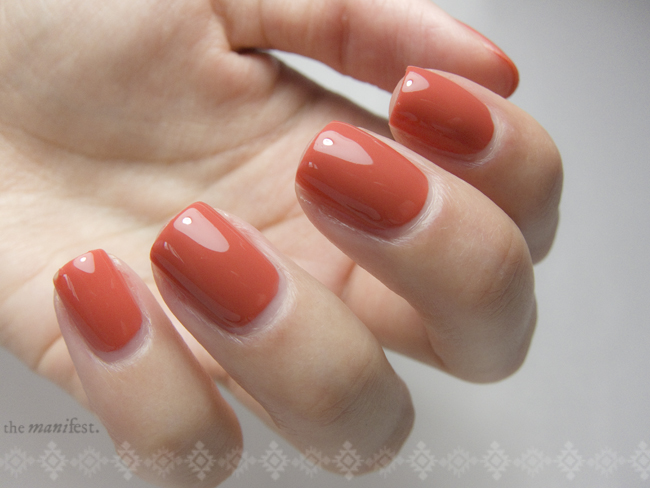 China Glaze - Life Preserver. 1 coat and top coat.