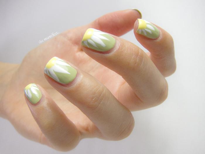 Nail art daisies