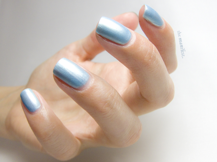 Baby Blue Pearl by Swedish brand Scratch Nails.