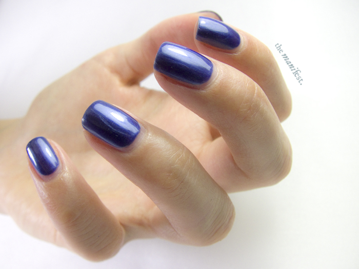 Sapphire by Swedish brand Scratch Nails.