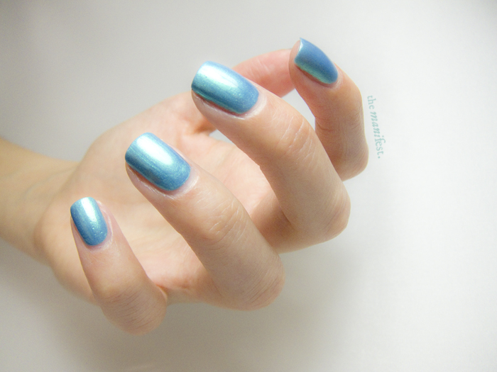 Turquoise by Swedish brand Scratch Nails.