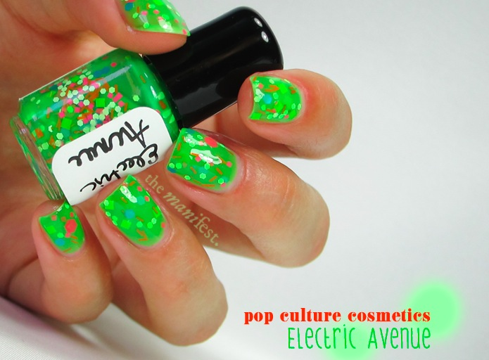 Pop Culture Cosmetics - Electric Avenue. 3 coats + top coat.