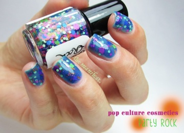 Pop Culture Cosmetics - Party Rock. 3 thin coats + top coat.